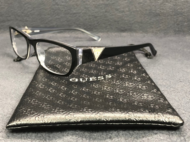 GUESS GU 2387 Polished Black Transparent / Demonstration Lens 51mm Eyeglassesess