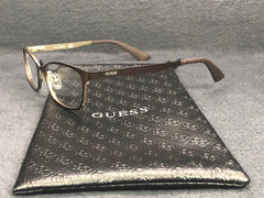 GUESS GU 2563 049 Matte Brown Rubber Black / Demo Lens 52mm Eyeglasses