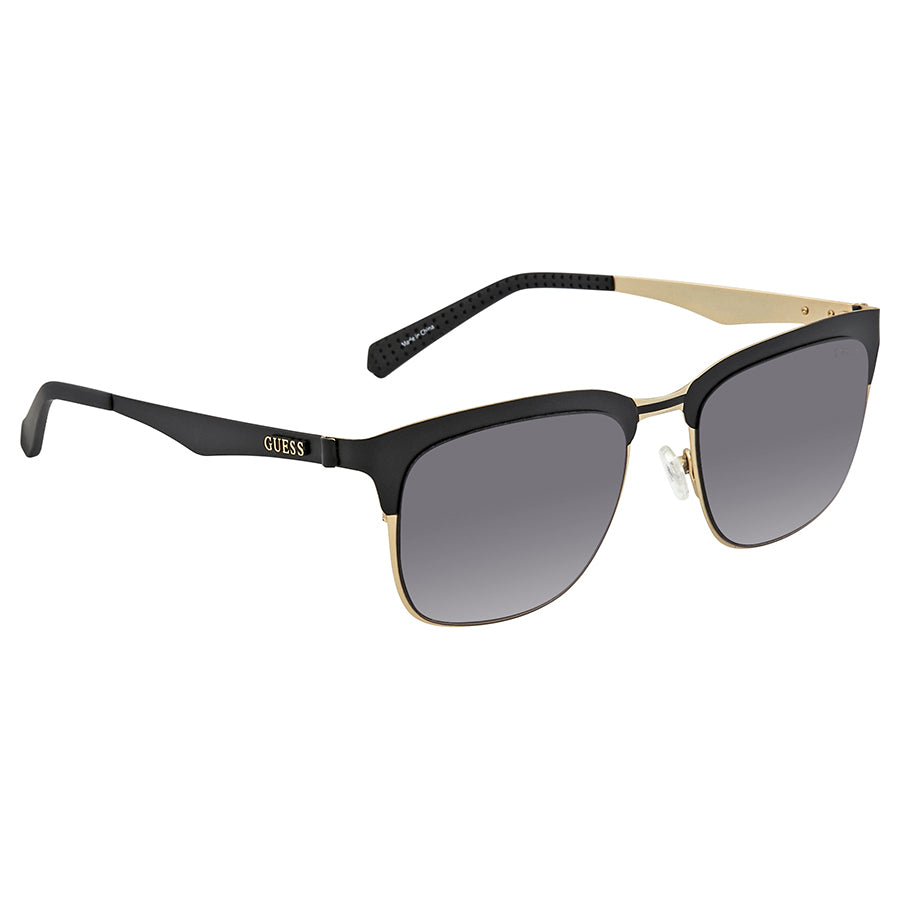 GUESS GU6900 05B Matte Black / Smoke Gradient 52mm Sunglasses