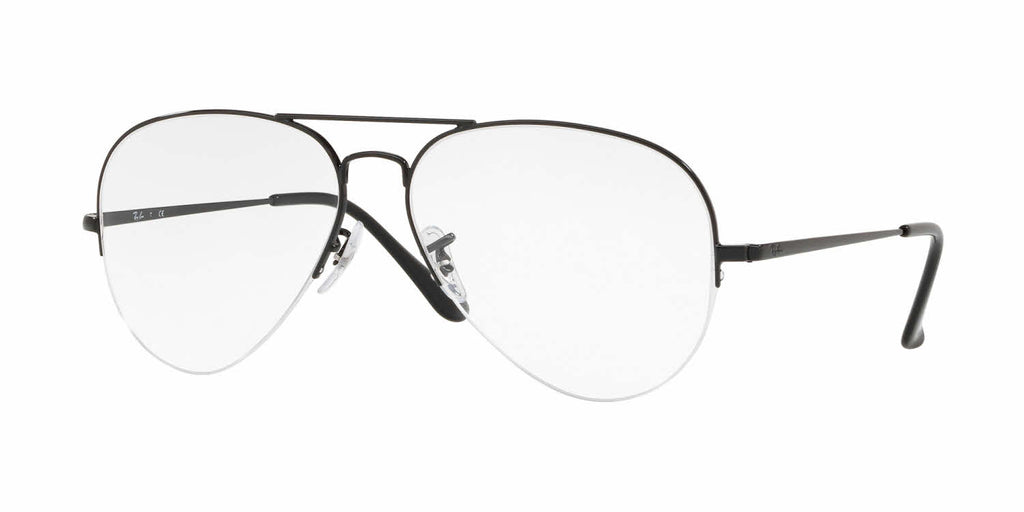 Ray Ban Aviator RX6589 2509 Polished Black / Demo Lens 56mm Eyeglasses