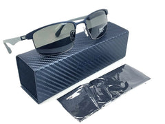 Flexon FS5062P 412 Matte Navy Gunmetal / Grey Polarized 57mm Sunglasses