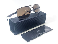 Flexon FS5061P 210 Brown Rubber Black / Brown Polarized 59mm Sunglasses