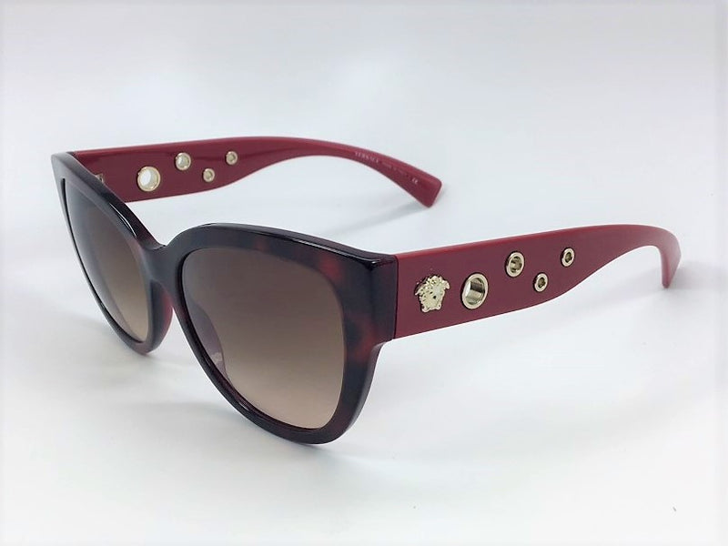 Versace VE4314 5184/13 Gloss Havana Burgundy / Brown Gradient 56mm Sunglassesess