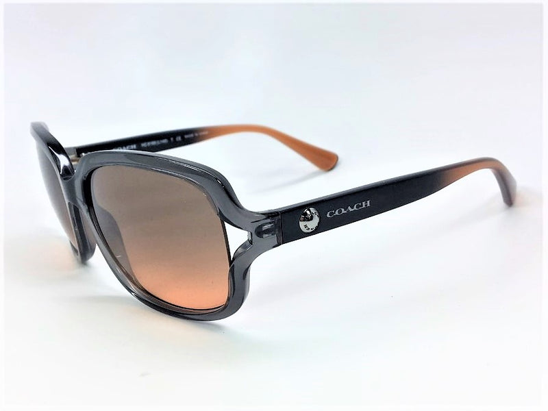 Coach HC8169 536395 Crystal Gray / Crystal Grey Amber Gradient 57mm Sunglasses