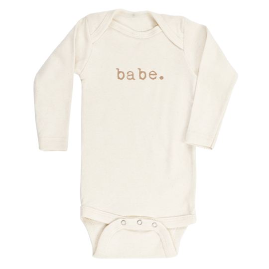 Babe Organic Cotton Long Sleeve Onesie