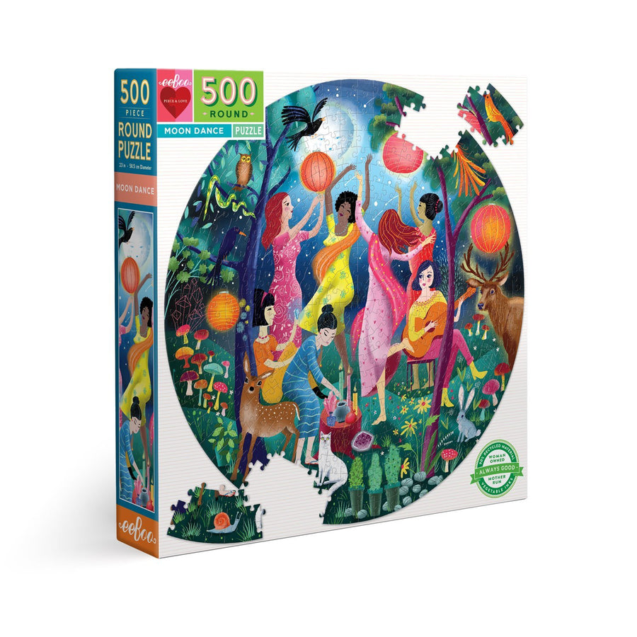 Moon Dance 500 Piece Round Puzzle