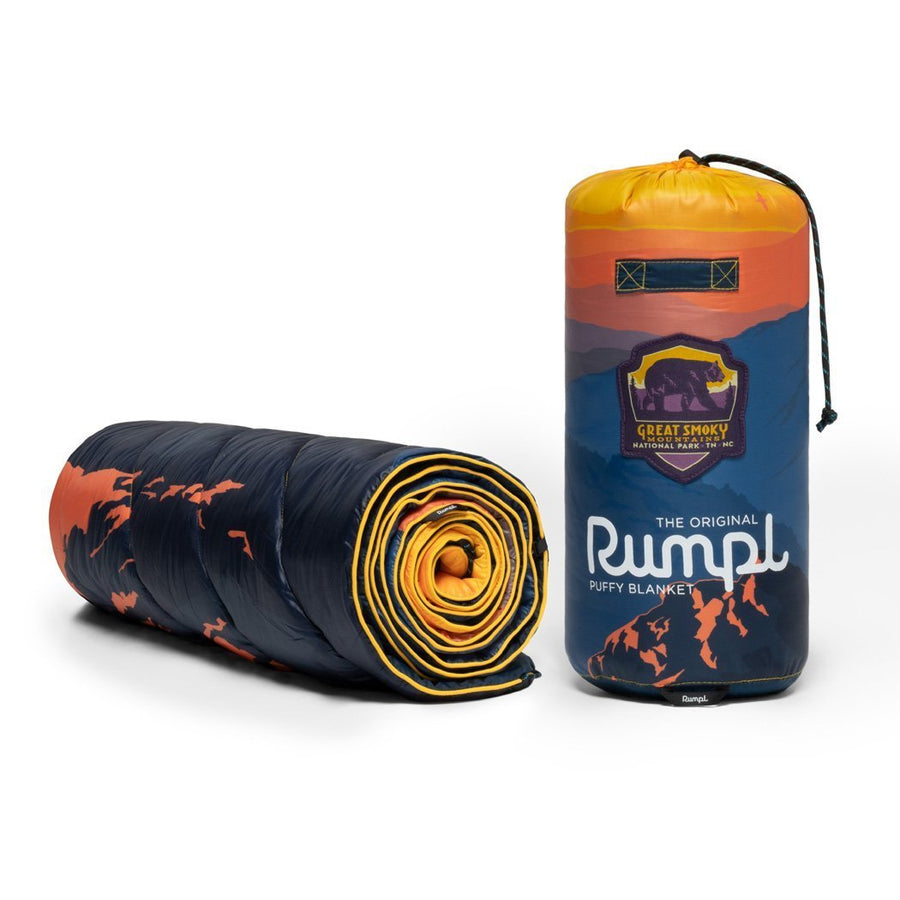 Rumpl Original Puffy Blanket Great Smokey Mountains
