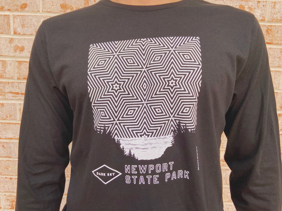 Newport Night Sky L/S T Black