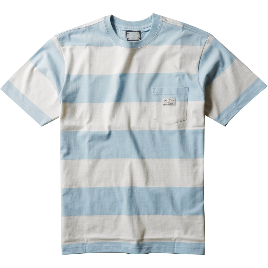 Creators Block Stripe Eco Short sleeve Pocket Tee