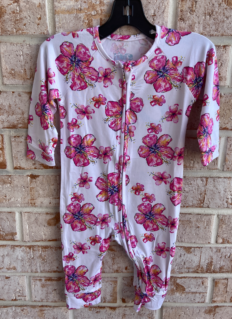 Hibiscus Bamboo Coverall