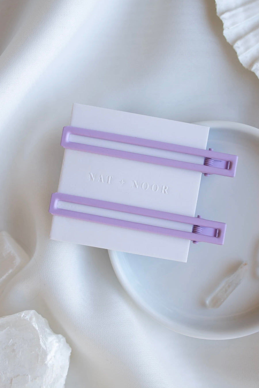 Hair Clip Solid Set Lavender Duo