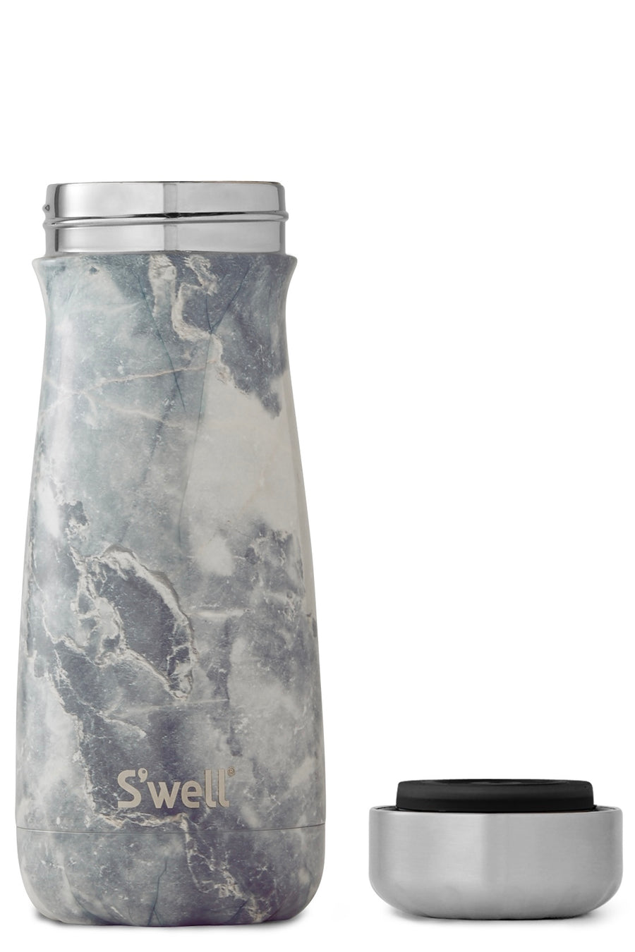 S'well Wide Mouth Traveler Insulated Thermos Blue Granite 16OZ