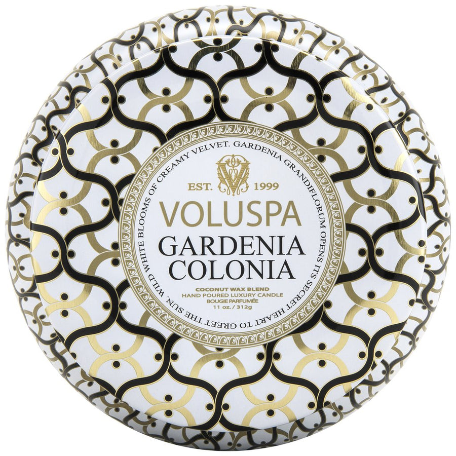 Voluspa 2 Wick Metallo Candle Gardenia Colonia