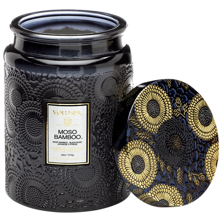 Voluspa Large Glass Jar Candle Moso Bamboo