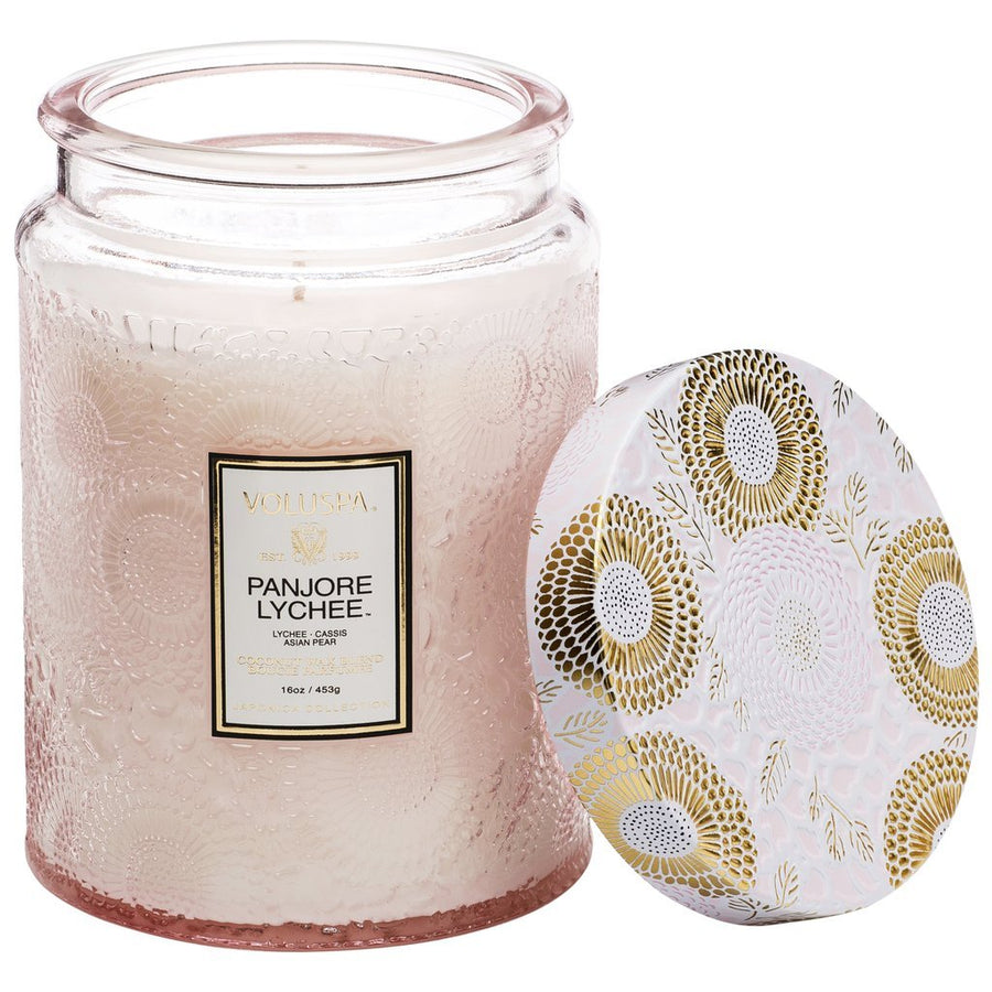 Voluspa Large Glass Jar Candle Panjore Lychee
