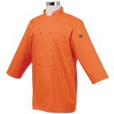 Chef Works JLCL BLK M Basic 3 4 Sleeve Chef Coat