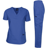 Dagacci Medical Uniform Womens Medical Scrub Set Top and Pant