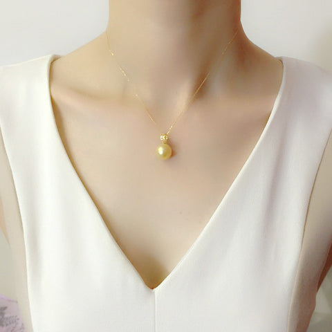 sea pearl pendants gold south aaa index diamond pendant