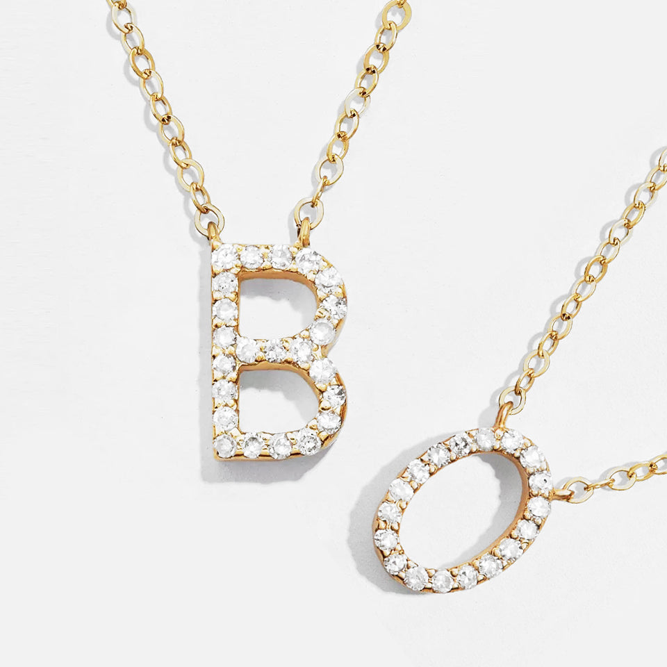 Crystal small Letter necklace