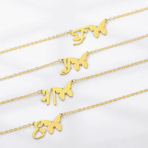 Personalize Butterfly necklace