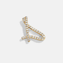 Load image into Gallery viewer, Personalize Script Letter Earrings Cubic Zirconia