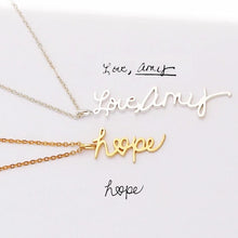 Load image into Gallery viewer, Custom Handwriting Necklace: Style 2