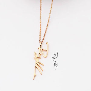 Custom Handwriting Necklace: Style 2