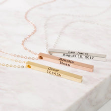 Load image into Gallery viewer, Personalize Bar engraving necklace