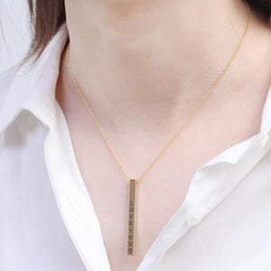 Personalize Bar engraving necklace