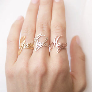 Custom Handwriting Ring