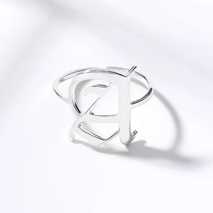 Personalized letter Ring Roman