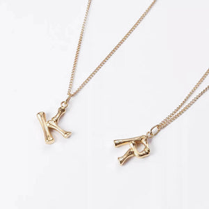 Bamboo small Letter necklace
