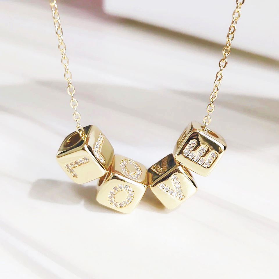 Cube small Letter necklace
