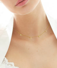Load image into Gallery viewer, Custom Petite Letter name Necklace