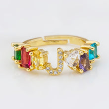 Load image into Gallery viewer, Bejeweled Personalized letter Ring