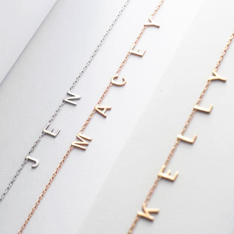 Custom Petite Letter name Necklace