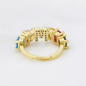 Bejeweled Personalized letter Ring