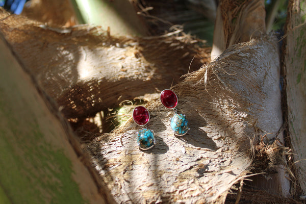 Ruby Turquoise Earrings