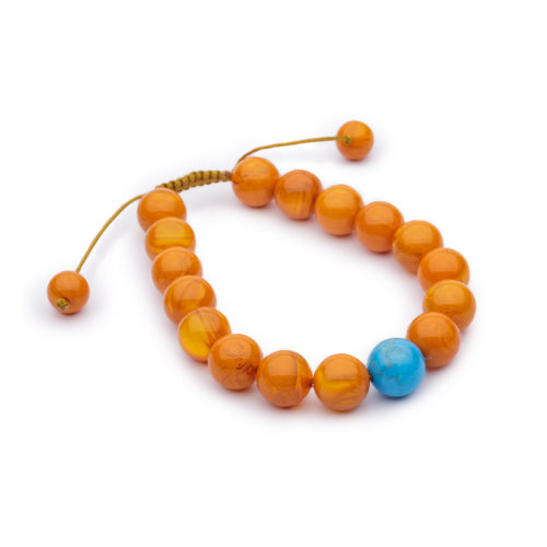 Amber and Turquoise Bracelet