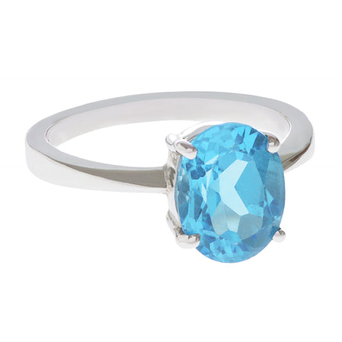 Swiss Blue Topaz Pop Ring