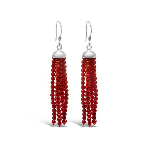 Coral Swishing Earrings