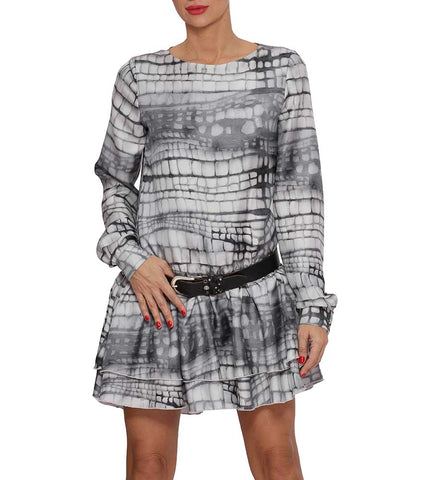 Trendy Printed Silk Dress Lea