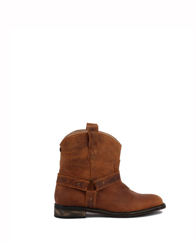Low Cowboy Boots - Brown