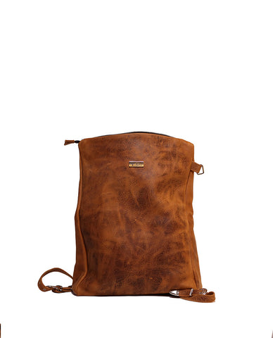 NOA Vagabond Brown Leather Backpack - Grom & Kakao