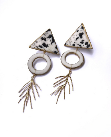 Rocky Sand Multi-Shaped Earrings