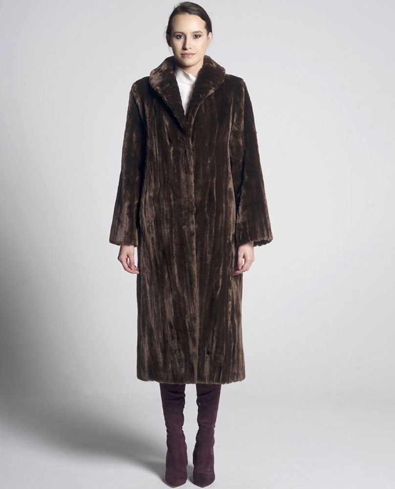 Diana Maxi Faux Fur Coat