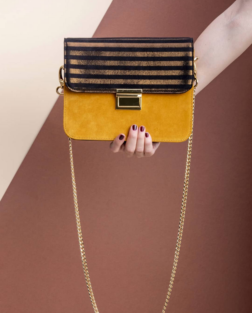 Ivon Black & Yellow Stripes Bag