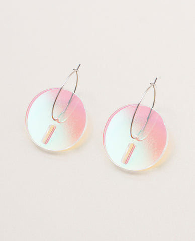 Circle Small Earrings - Iridescent