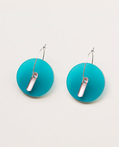 Circle Small Earrings - Turquoise
