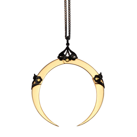 Full Moon Large Gold Pendant